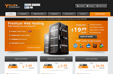 Ultimate Hosting ~ Premium WHMCS Themes including a built-in ...